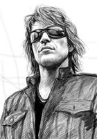 Bon Jovi art drawing sktech poster