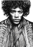 Jimi Hendrix art drawing sketch portrait