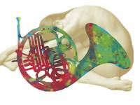 music instrument with nude - drawing art poster