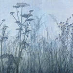 """Wildflower Silhouettes Blue"" by CoraNiele"