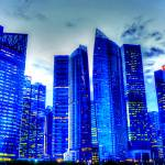 """City Blue Series : Singapore Skyline"" by sghomedeco"
