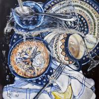 Sink Splatter: Polish Pottery LXII Art Prints & Posters by Heather Sims