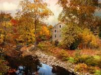 Stone Mill in Autumn