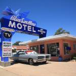 """Route 66 - Blue Swallow Motel"" by Ffooter"