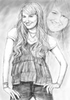 ashley tinsdale art long drawing sketch poster