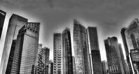 Black and White Cityscape Singapore