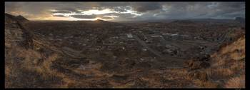 City of Hurricane at sunset panorama