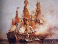Naval battle between the Confiance and HMS Kent