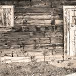 """Sepia Rustic Old Colorado Barn Door and Window"" by lightningman"