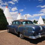 """Route 66 Wigwam Motel and Classic Car"" by Ffooter"
