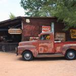 """Route 66 Garage and Pickup"" by Ffooter"