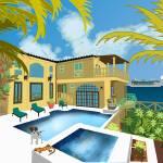 """""""Mediterranean Villa"""" by KenKendallDesign"""