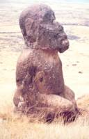 Easter Island Moai Sculpture