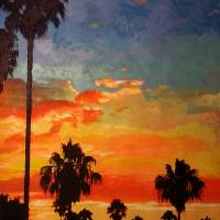 Sunset in Mission Bay Park Art Prints & Posters by RD Riccoboni