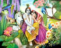 RadhaKrishna in the garden