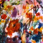 Abstract Tuscan Poppies Square Format