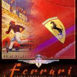 """ferrari collage poster"" by rchristophervest"