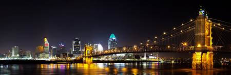 Cincinnati, Ohio Skyline at Night