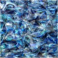 Blue Textures Collage