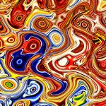 """Bold Colors Abstract"" by Groecar"