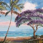 """Jacaranda on the Beach"" by mazz"
