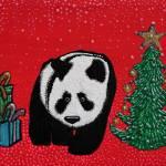 """A Panda For Christmas"" by ArtPrints"