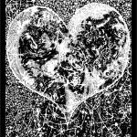 """""Love Yourself"" Heart shaped world, Ink 1990"" by O"