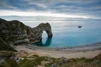 Afternoon cloud breaking up at Durdle Door