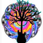 """""Psychedelic Sonic Cyclone""  (surreal guitar tree"" by LeahMcNeir"