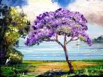 Jacaranda Sailboat by Mazz Original Paintings