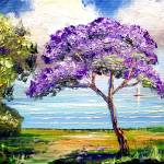 """Jacaranda Sailboat"" by mazz"