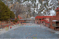 Glenwood Springs Hot Spring in Winter