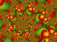 Fractal Dancing Red Hearts