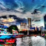 """Clark Quay and Evening Sky, Singapore"" by sghomedeco"