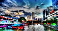 Clark Quay and Evening Sky, Singapore