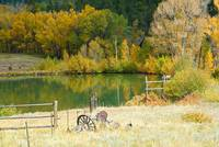 Ranch Pond in Autumn Diptych 2