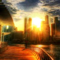 Sunshine + Cityscape, Singapore Art Prints & Posters by Michelangelo Design and Co.