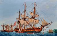 Revolutionary Painting of the Frigate Confederacy