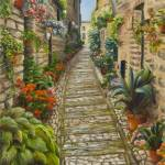 """STROLLING SPELLO, ITALY"" by rebeccahauschild"
