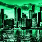 """Cityscape Singapore 2013, Vintage Tone"" by sghomedeco"
