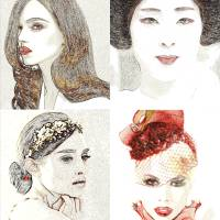 Women portraits poster Art Prints & Posters by Dorotti Triflour