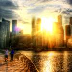"""City and Sun - urban landscape Singapore"" by sghomedeco"