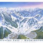 """Stevens Pass Resort, Washington"" by jamesniehuesmaps"