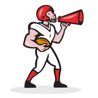 American Football Quarterback Bullhorn Isolated Ca