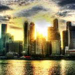 """Singapore Urban Landscape - City and Sun"" by sghomedeco"