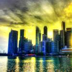 """Sun Shine thru the City,  Singapore"" by sghomedeco"