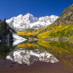 """_MG_3073.Maroon Bells reflection1"" by SamSherman"