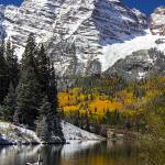 """_MG_3114.Maroon Bells dam.vertical"" by SamSherman"