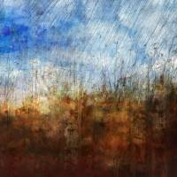 Grass Aginst Blue Sky Abstract Art Prints & Posters by Sheryl Karas