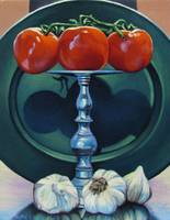 Kenneth_Cobb_2013_TomatoandGarlic_925x12in_OilonCa